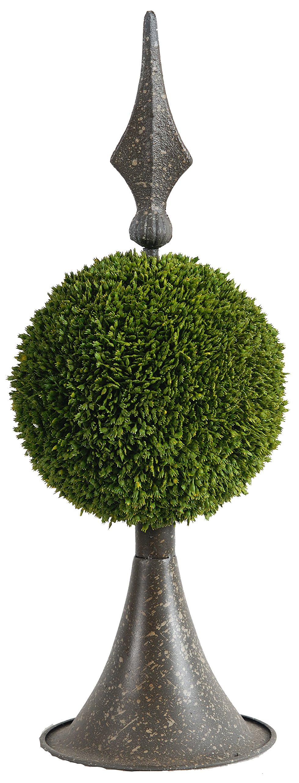 A&B Home 35413 Boxwood Ball Topiary With Metal Finial Stand, 7 by 17-Inch by A&B Home