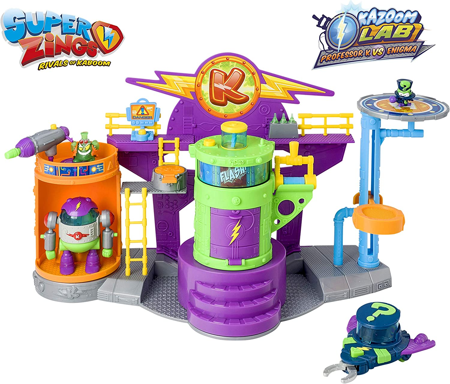 Superzings- PlaySet Lab DrK Especial Figuras Coleccionables, Color surtido, única (Magic Box PSZSP112IN10)