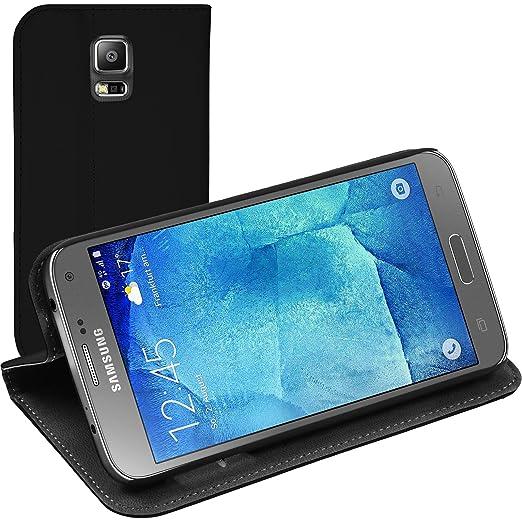 14 opinioni per Copertura di cuoio artificiale per Samsung Galaxy S5 Neo- Bookstyle nero- Cover