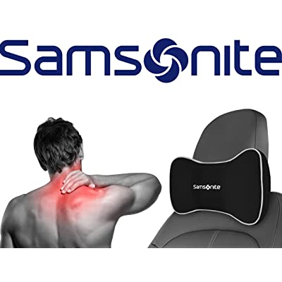 Samsonite SA5248 \ Travel Pillow for Car, SUV \ Helps Relieve Neck Pain & Improve Circulation \100% Pure Memory Foam \ Fits Most Vehicles: Automotive