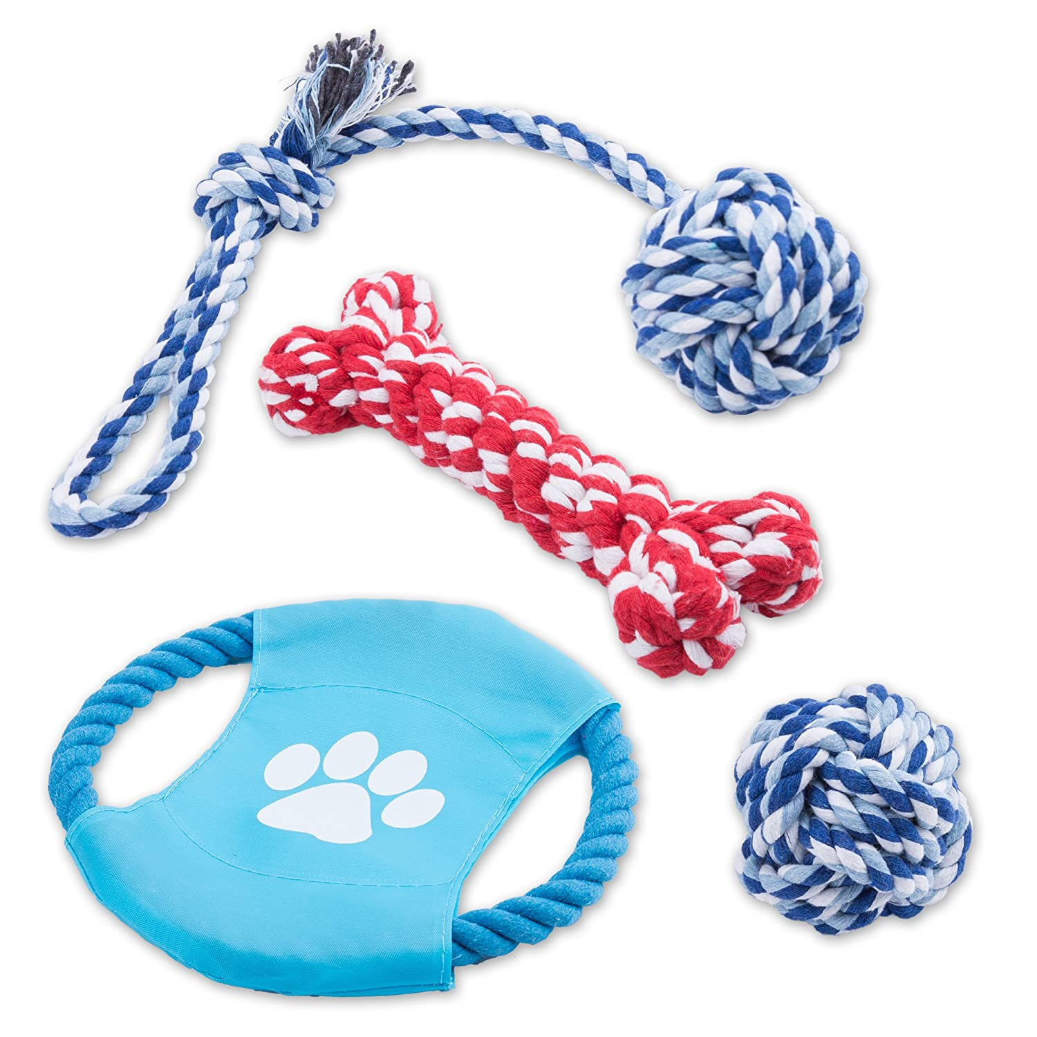85%OFF Intcrown Dog Rope Toys Puppy Chew Toys for Small and Medium
