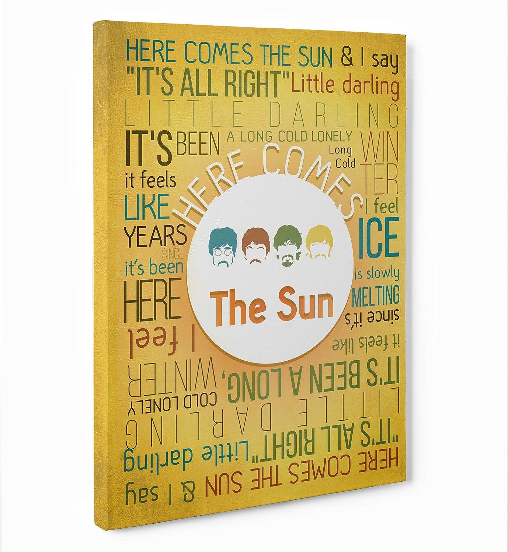 LaMAGLIERIA Fine Art - Cuadro de Tela Canvas Here Comes The Sun - The Beatles Listo para Colgar – Medida Marco (Posterior) 2cm – Fine Art, 70cmx100cm