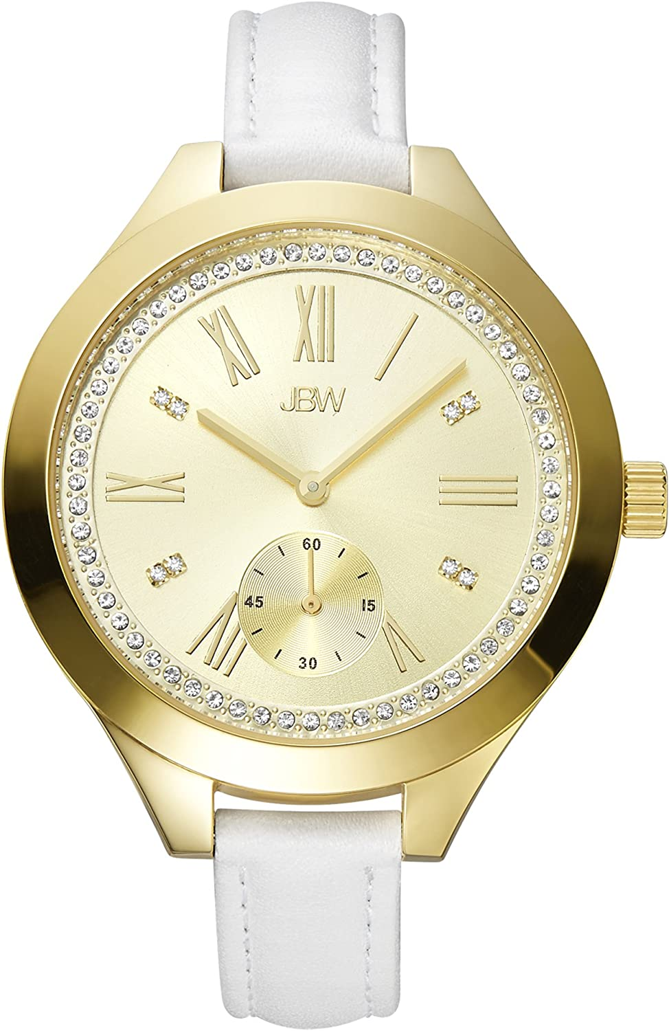JBW Luxury Women s Aria Diamond Wrist Watch with Leather Bracelet