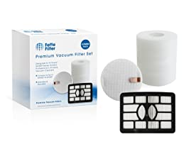 Shark Rotator Professional Lift-away Compatible HEPA Filter & Foam & Felt Filter for Shark NV500, NV501, NV502, NV505, NV510, NV552, UV560. Replaces Part # XHF500 & XFF500