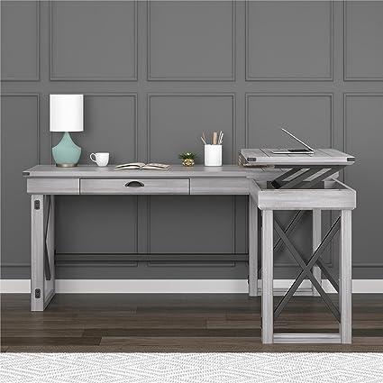 Awesome Ameriwood Home 9552296Com Wildwood L Shaped Desk Download Free Architecture Designs Intelgarnamadebymaigaardcom