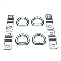 (Pack of 4) Heavy Duty 3/8 5000lbs Anchor Point Surface Mount Tie Down D Ring