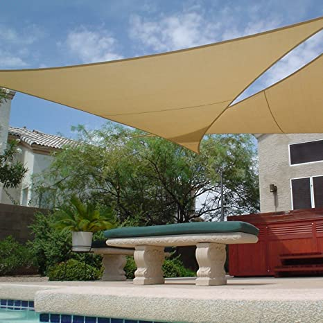 Amazon.com  Apontus Sun Shade Sail Canopy Outdoor Patio (16u0027X16u0027X16 TAN)  Garden u0026 Outdoor & Amazon.com : Apontus Sun Shade Sail Canopy Outdoor Patio (16u0027X16u0027X16 ...