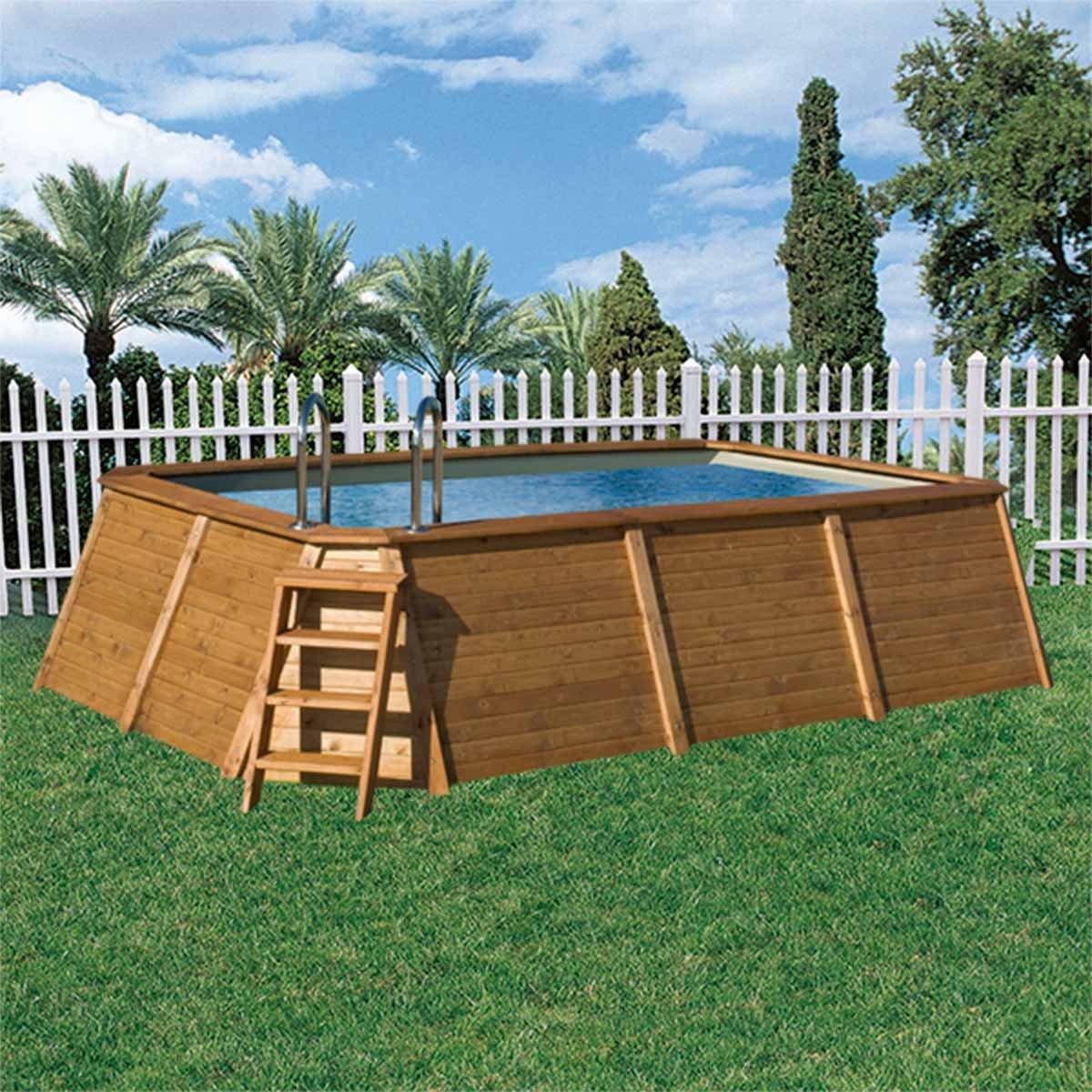 K2O Piscina de madera 490 x 293 x 110 cm + depuradora de cartucho: Amazon.es: Juguetes y juegos