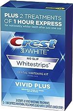 Crest 3D White Whitestrips Vivid Plus Teeth Whitening Kit, Individual Strips