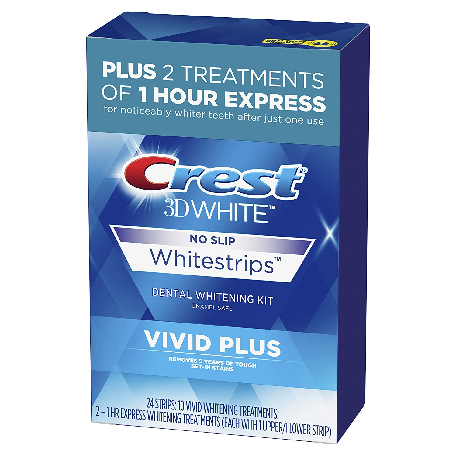 Amazon Com Crest 3d White Whitestrips Vivid Plus Teeth Whitening