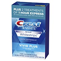 Crest 3D White Whitestrips Vivid Plus Teeth Whitening Kit, 24 Individual Strips...