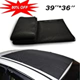 """Omonic Car Roof Mat Cargo Bag Top UNIVERSAL Roof Rack Pad (39""""x36"""") Cushioned Layer Non-slip Heavy Duty Elastic Soft for Car SUV Truck Roof Carrying Cargo Bags Bikes Paddle"""