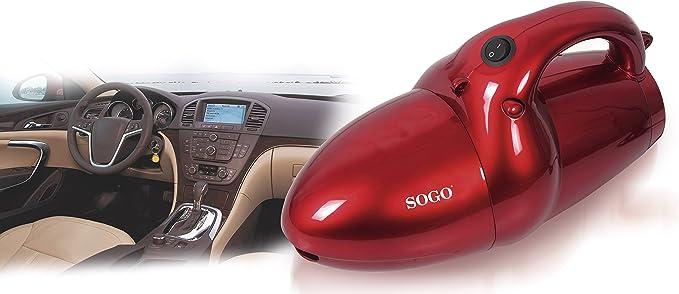Sogo ASP-SS-16006 - Aspirador de Mano con 11 Accesorios, 800 W, 0.8 litros, Plástico, Rojo: Amazon.es: Hogar