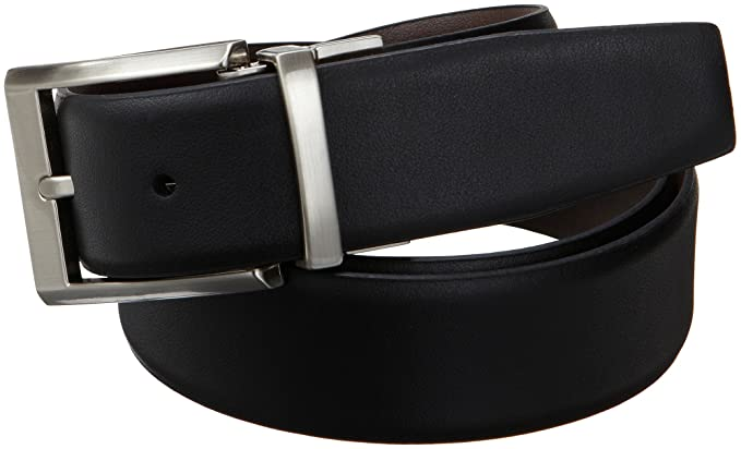famous designer belts f407  Calvin Klein Men's Smooth Leather Reversible Belt, Black/Brown,