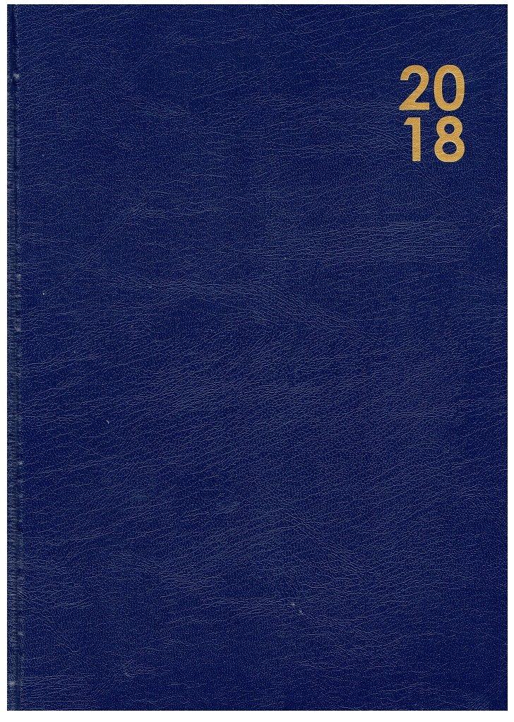 Agenda 2018 (tamaño A4, vista semanal), color negro, azul y ...