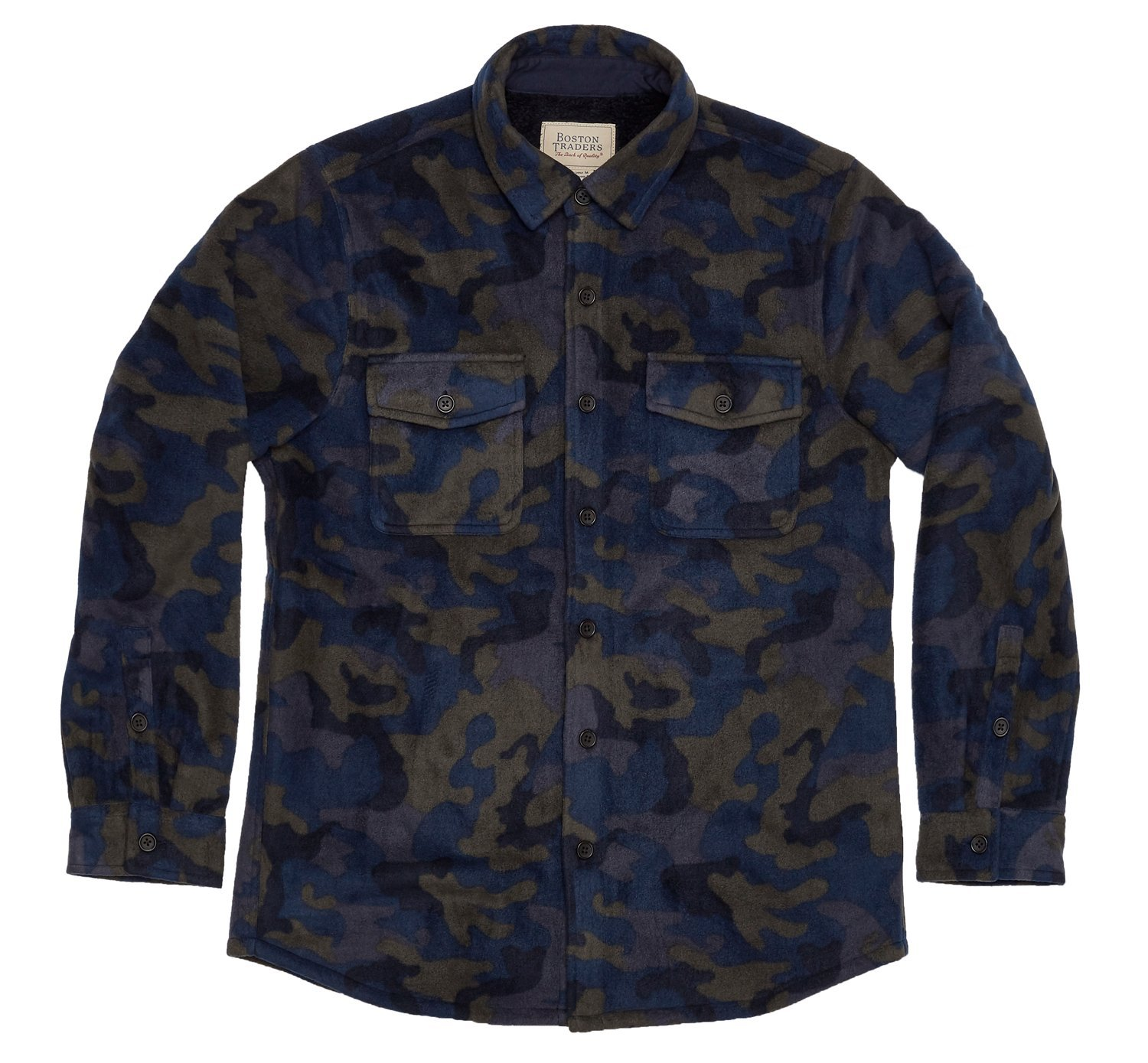 Boston Traders Men's Plush-Lined Flannel Shirt Jacket, X-Large, Eclipse Camo
