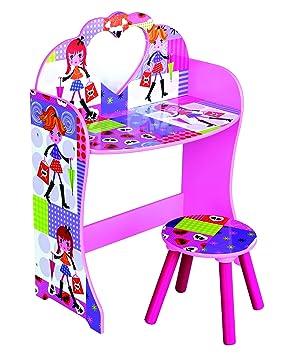 Pour enfant Rose Mode poupée Thème Coiffeuse et tabouret: Amazon.fr ...