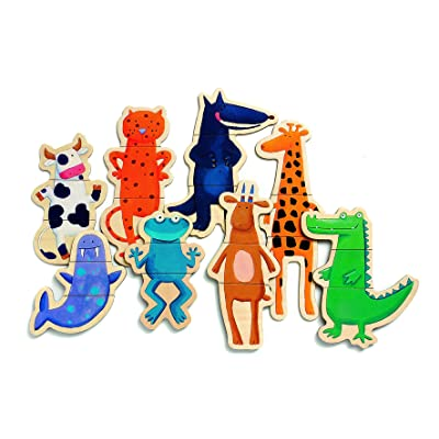 DJECO Crazy Wooden Magnets: Toys & Games