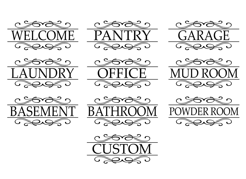 Pantry Door Decal Pantry Label
