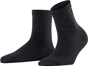 Falke Damen Socken Renaissance Baumwollmischung 1 Paar Schwarz Black 3000 Größe 35 38 Bekleidung