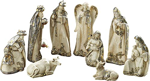 Burton Burton Nativity 10Pc Sand Silver Gold Set