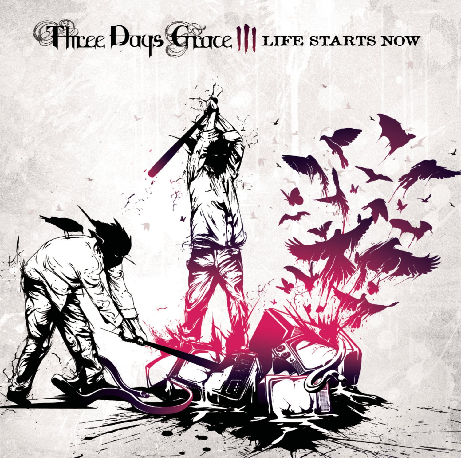 New Sealed 3 Three Days Grace Life Starts Now Audio Cd Disc Album Rock Music 886974625629 Ebay