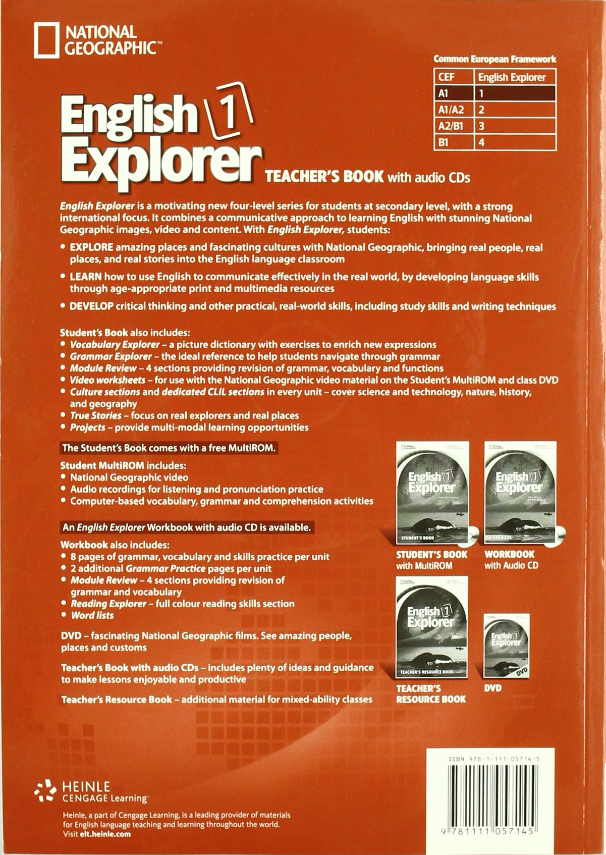 English Explorer Level 1 - Teacher Book with Audio CDs by CENGAGE Learning Custom Publishing