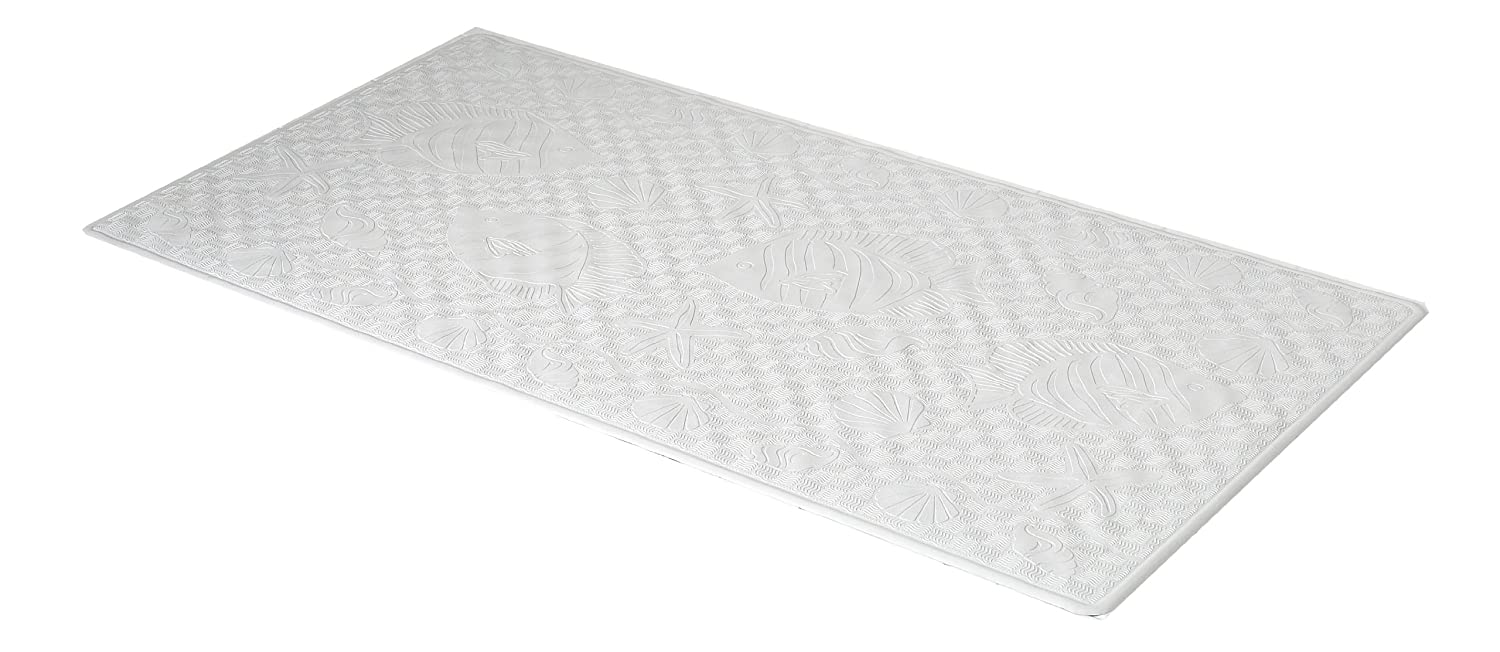 Carnation Home Fashions Small 13-Inch by 20-1//2-Inch Rubber Bath Tub Mats White