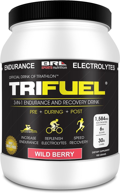 B00HVJ5UZ8 TRIFUEL - 3-in-1 Endurance and Recovery, Hydration, BCAA, Electrolyte Enhanced Drink (Wild Berry)… 81QL4OksvmL