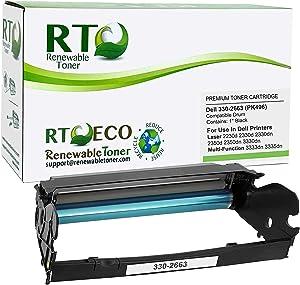 Renewable Toner Compatible Drum Cartridge Replacement Dell 330-2663 PK496 Laser 2330 2350 3330 3333 3335
