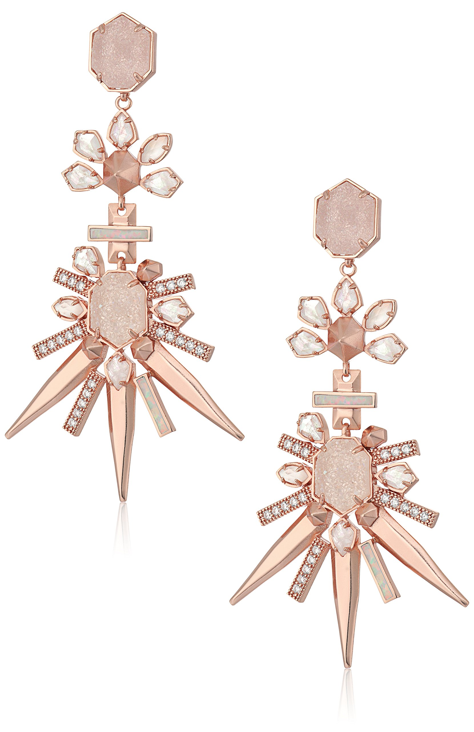 Kendra Scott Isadora Rose Gold Champagne Colorway Earrings by Kendra Scott