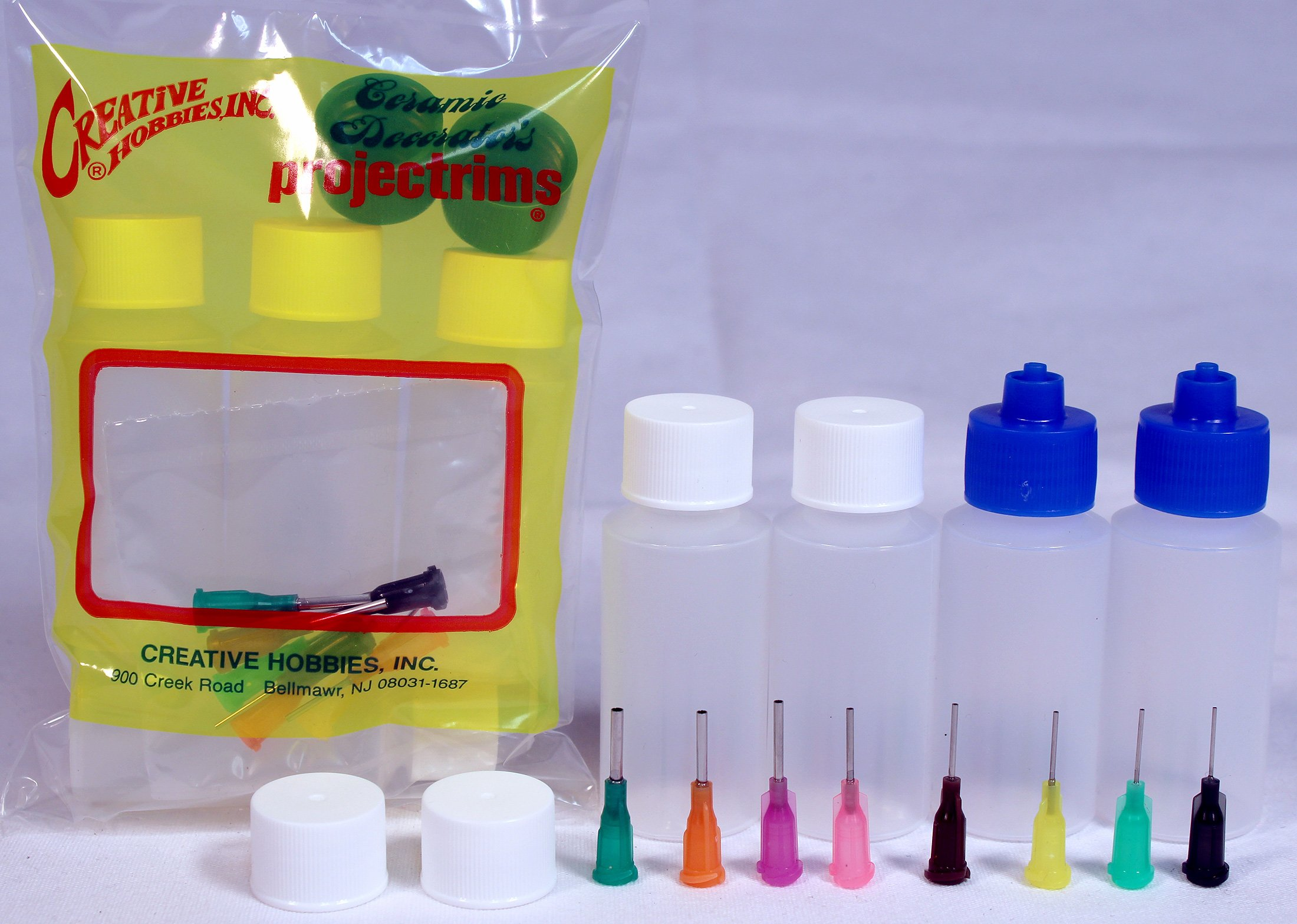 Creative Hobbies Multi Purpose Precision Applicator Super Assortment Set with Four 1 Oz Bottles and 8 Tip Sizes by Creative Hobbies