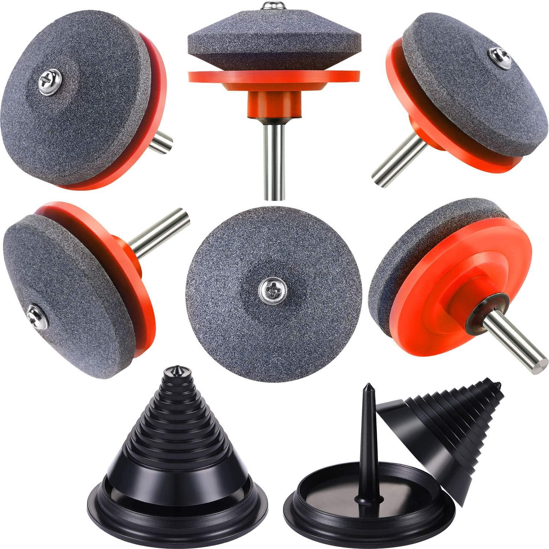8 Cuchilla Cortacésped Accesorio de Afilador Incluye Equilibrador de Cuchilla para Modelo 42-100 Cuchilla Afiliador Sacapunta Piedra de Rueda Taladro Eléctrico o Manual (Afilador de Naranja)