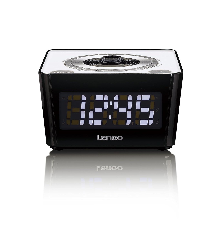 Lenco CR-16 Color Blanco Rádio Reloj