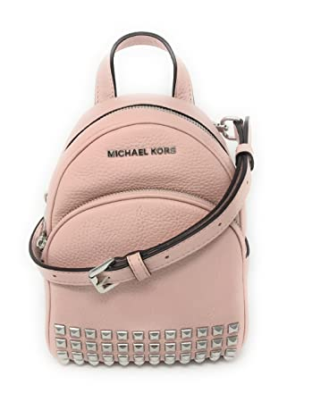 f56c425456 Michael Michael Kors Abbey Extra-Small Studded Leather Backpack Blossom