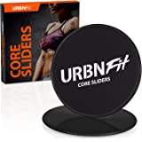 URBNFit Gliding Discs Core Sliders - Dual Sided Exercise Disc For Smooth Sliding On Carpet And Hardwood Floors - Gliders Workout Legs, Arms Back, Abs At Home or Gym or Travel - Fitness Equipment