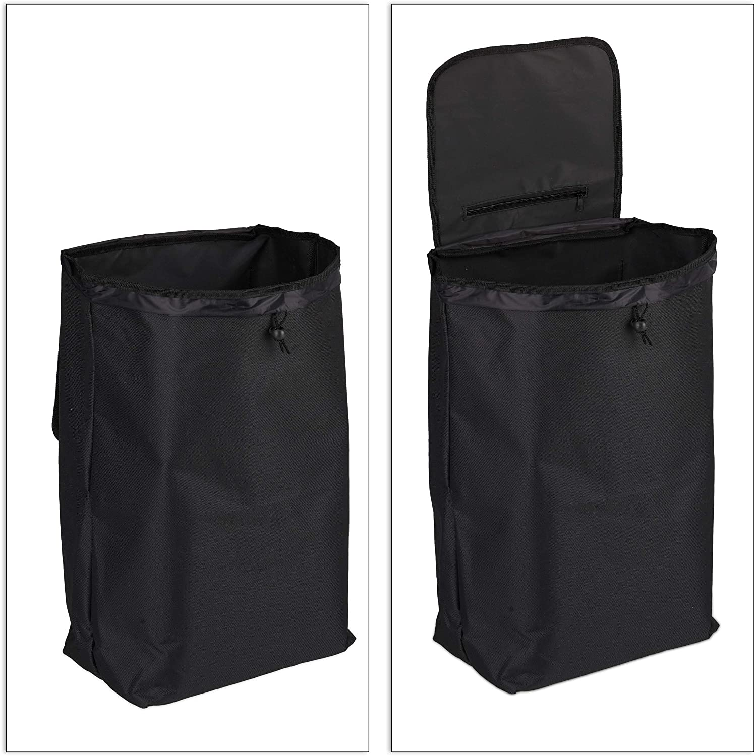 10 kg Capacity 91 x 40 x 30 cm Relaxdays Shopping Trolley 25 L Grocery Tote with Casters Black Pack of 1 Folding