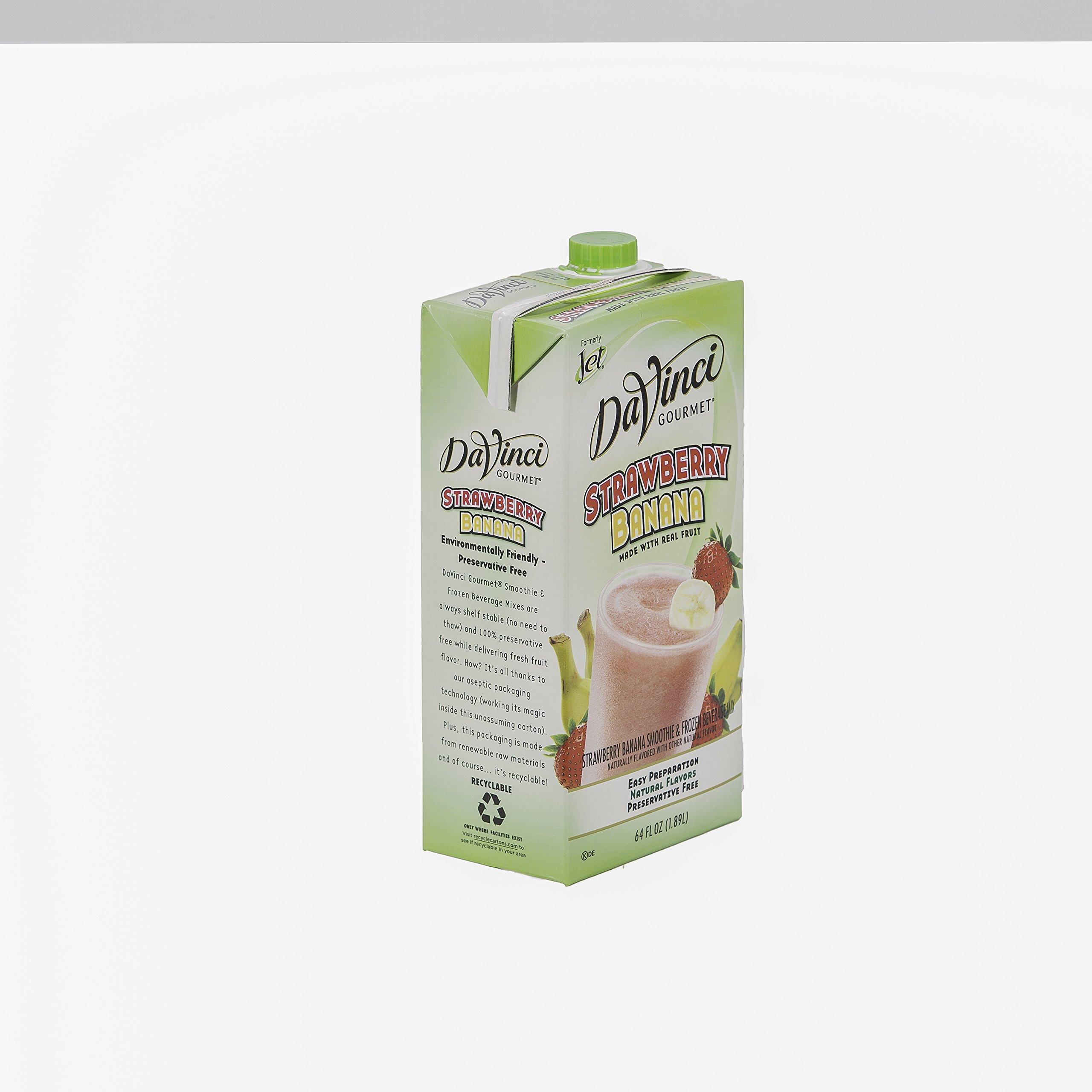 DaVinci Gourmet Strawberry Banana Smoothie Mix, 64 oz., 6 per case by DaVinci Gourmet