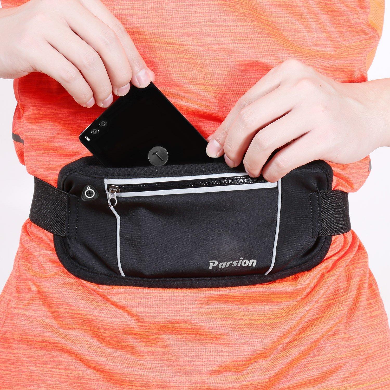 Jogging Black Voyage- Noir et Fluo Hiking Dog Walking Note 4//5- Escalade Randonn/ée Parsion Running Belt//Sac Ceinture Banane Etanche- Portable iPhone 7,GalaxyS5 S6