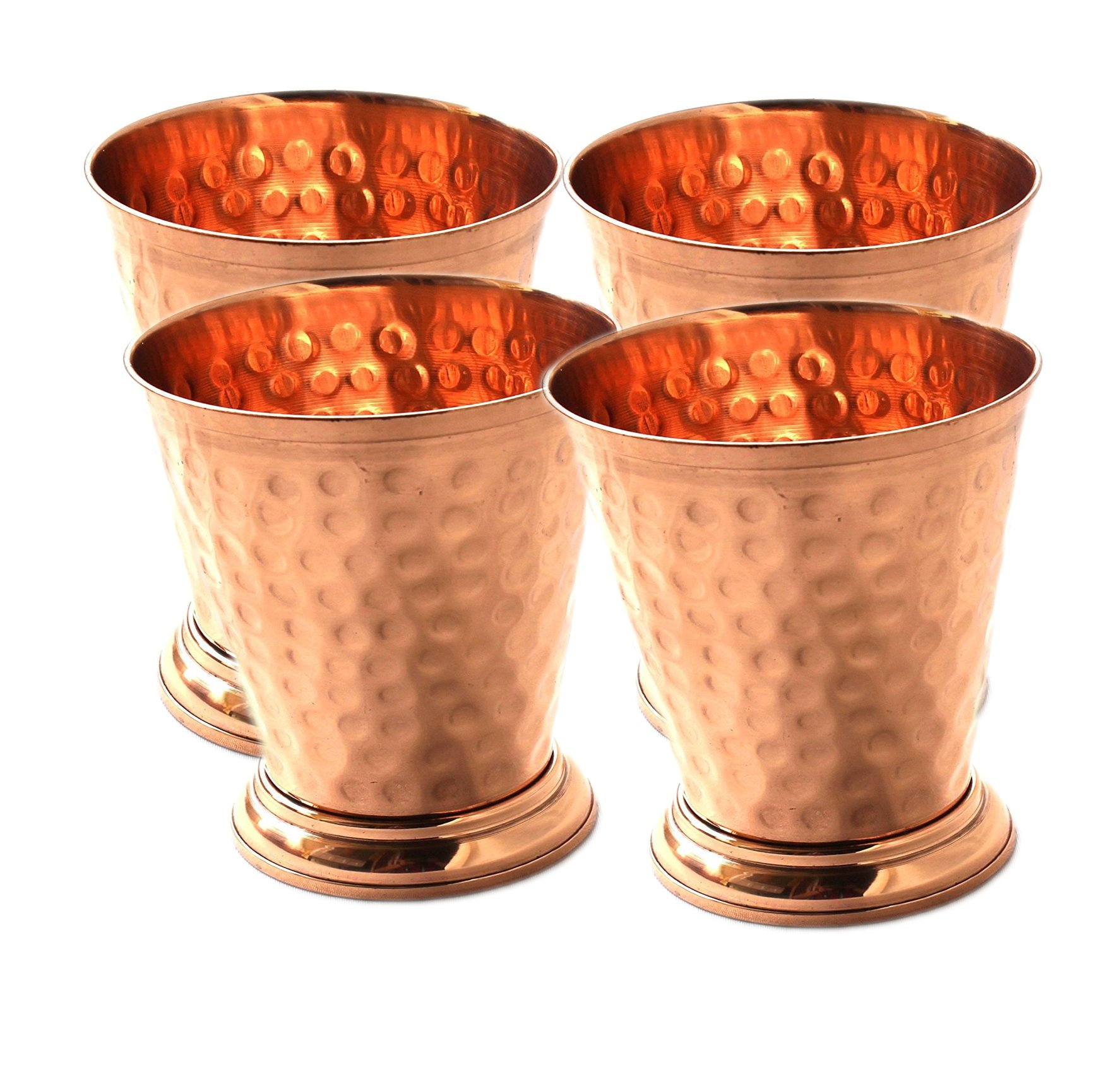 Mint Julep Cup Pure Copper Moscow Mule Mint Julep Cup beautifully handcrafted Capacity 12 Ounce Hammered By Hand Without beading Pack of 4