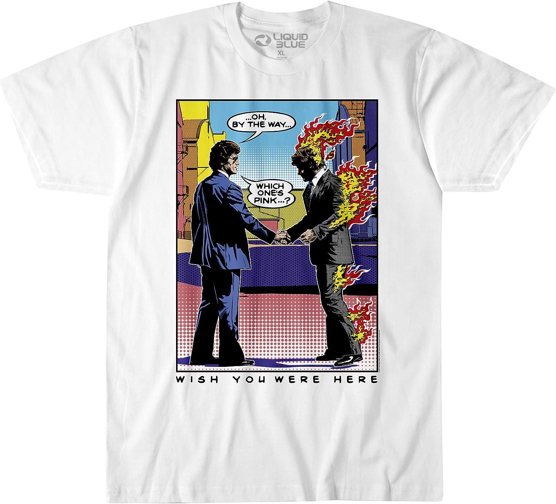 Pink Floyd Wywh Pop Art Burning Man T-Shirt