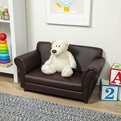 Amazon.com: melissa & doug sofá de niño – café Piel ...