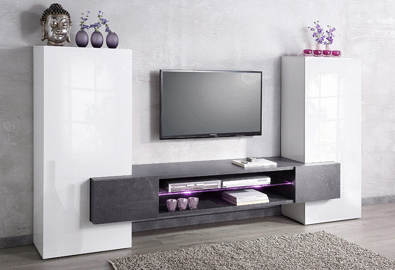 Wohnwand Mediawand Wohnzimmerschrank Fernsehschrank TV Schrank TECNOS Akka Gnstig Online Kaufen