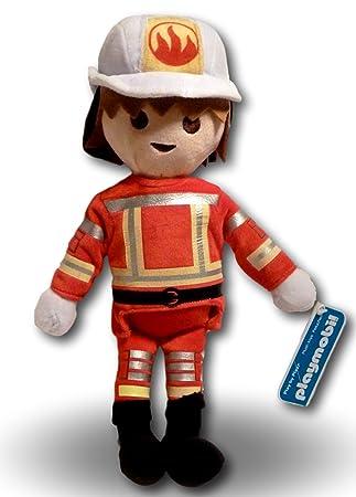 Playmobil Figura Bombero Peluche 33cm Muñeco Juguete Personaje Original Super Suave Gran Calidad