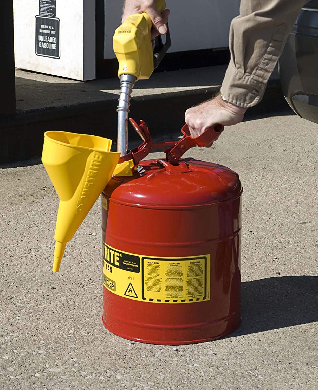 Justrite Safety Cans Type 1 Funnel Attachment JUS11202Y