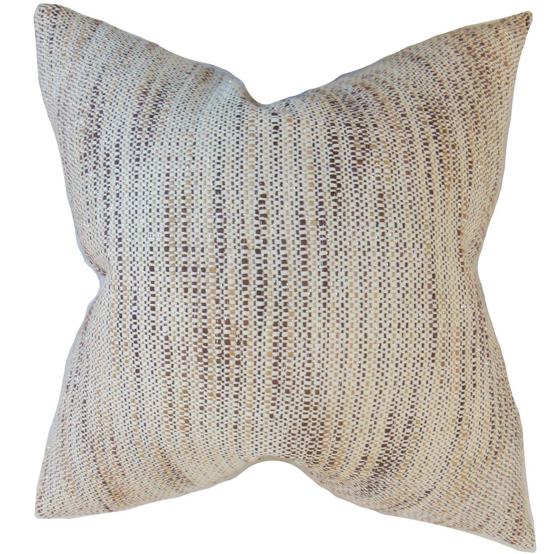 The Pillow Collection Lakota Stripes Bedding Sham Tan Queen/20' x 30'
