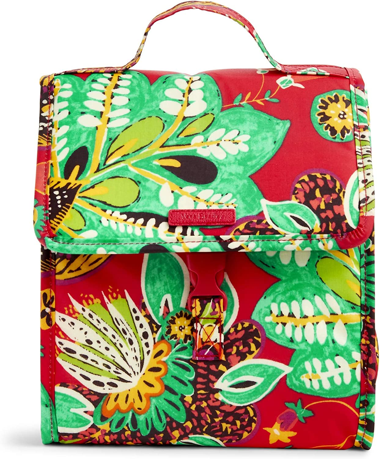 Vera Bradley Women's Signature Cotton Lunch Sack Lunch Bag, Rumba
