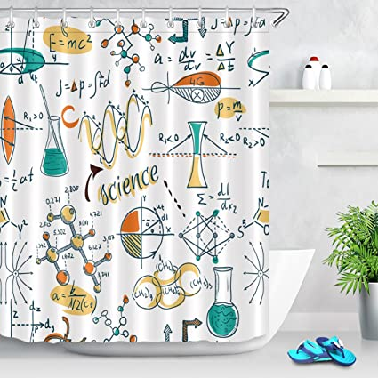 Amazon Com Lb College Science Shower Curtain Set Science Lab