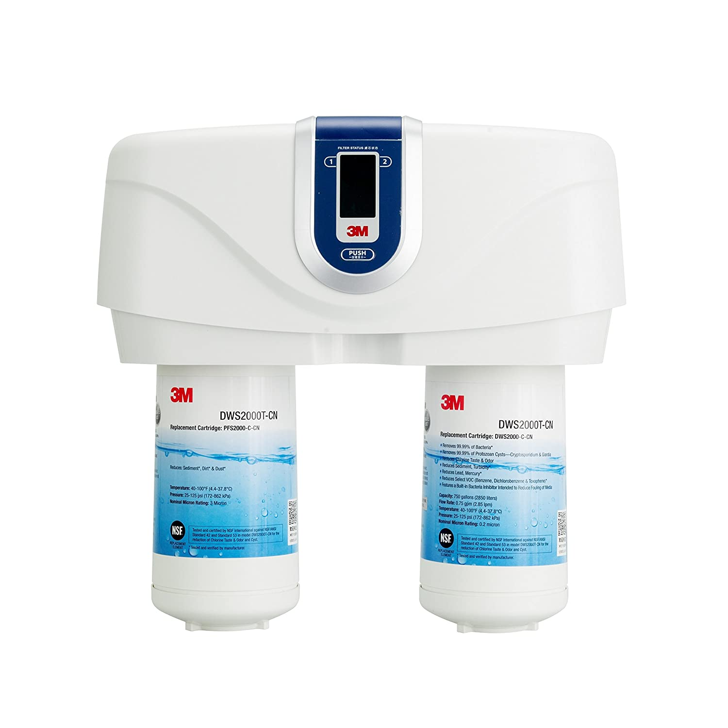 3M Home Water Filtration DWS2000T- Smart Drinking Water System (Under...
