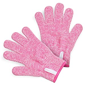 TruChef KIDS Cut Resistant Gloves (Ages 8-12) - Maximum Kids Cooking Protection. Safe hands from REAL Kitchen Knives and Tools. Perfect for Oyster Shucking and Whittling.